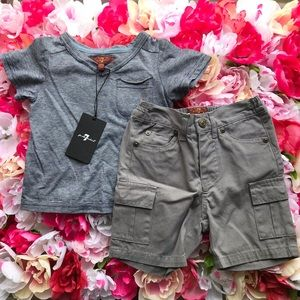 7 for all mankind matching set outfit